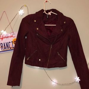 Soft Burgundy Jacket (willing to lower price)